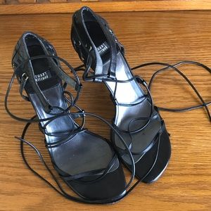 Stuart Weitzman Strappy Black High Heels 7B